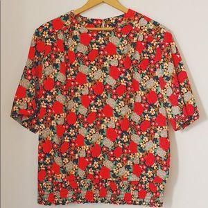 Vintage floral blouse 80s-90s era
